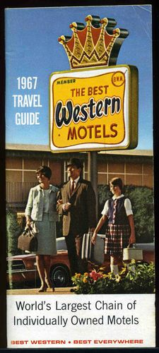 1967 vintage Best Western Motels Travel Guide Souvenir Booklet United States - what a great year! Stayed at A LOT of Best Westerns as a kid! Route 66 Road Trip, Road Trip Usa, Vintage Hotels, Vintage Travel, Vintage Advertisements, Vintage Ads, Westerns, Century Hotel, Mid Century