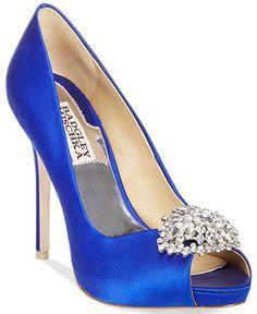 badgley mischka jeannie peep toe pumps evening bridal shoes macys