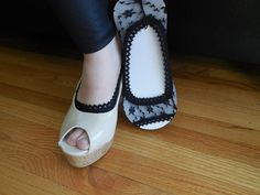 I Made this Ladies Cute and Fashionable socks Lace peep socks perfect accessory for your heels or your flats. they are stretchy, they are perfect