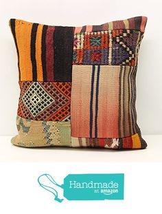 Decorative Patchwork kilim pillow cover 18x18 inch (45x45 cm) Handmade Kilim pillow cover Sofa Decor Accent Pillow cases Hand woven Cushion Cover https://www.amazon.com/dp/B01N5B760A/ref=hnd_sw_r_pi_dp_E4PqybGVZGJZV #handmadeatamazon
