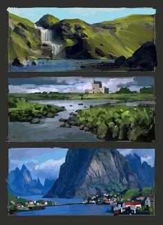 landscapes by Andead.deviantart.com on @DeviantArt