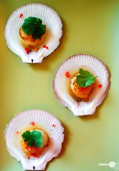 Vodka and lime scallops - a delicious starter for grown ups Recipe at Wholesome Cook