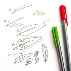 You cant go wrong with a feather spread in your bullet journal. Here's how you draw one. #howtodraw #feather
