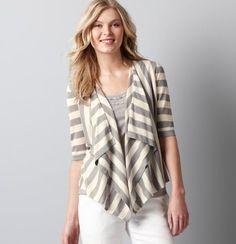 stripey cardigan from ann taylor LOFT