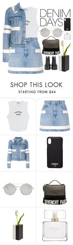 """Feminist Hero"" by dayliant ❤ liked on Polyvore featuring Wildfox, Givenchy, Jonathan Adler and denimskirts"
