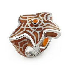 Designo Brown And White Star Sterling Silver Ring, Size 6 Designo. $26.40. Save 60%!