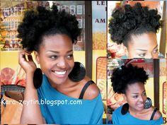 Natural Hair Twist-out Curly Afro Puff. *Kara-zeytin*