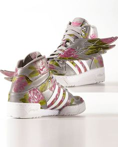 "JEREMY SCOTT X ADIDAS ORIGINALS WINGS ""REFLECTIVE FLORAL"" | Buy ➜ http://shoespost.com/jeremy-scott-x-adidas-originals-wings-reflective-floral/"