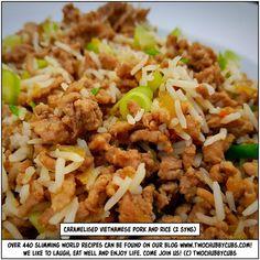 caramelised Vietnamese pork and rice