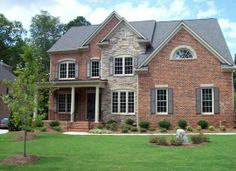 brick and stone veneer exterior home photos combine brick and