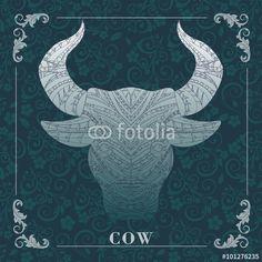Vector: cow,decorative picture