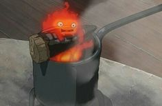 Calcifer, the cutest little fire demon. If I ever get a cat I'll name it after him :) -Howls Moving Castle Hayao Miyazaki, Howl's Moving Castle, Studio Ghibli Art, Studio Ghibli Movies, Film Animation Japonais, Personajes Studio Ghibli, Howl And Sophie, Fire Demon, Anime Reviews