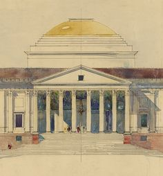 #Palladio Viceroy's House, New Delhi by Edwin Lutyens 1912 (c) RIBA Collections copy.jpg