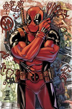 01-04-2014 Cover 18 La copertina dedicata al mercenario chiacchierone è di Matteo Lolli, bolognese, appassionato di fumetti.X-Men Origins #1 Deadpool #35