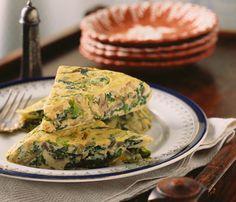 Spinach, Mushroom and Gouda Soufflу    Eggs for dinner