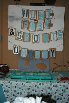 Hunting And Fishing Baby Shower Theme