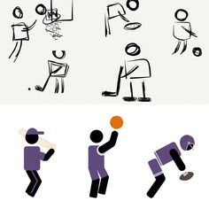 Athlete pictogram characters for #elearning by Kimberly Bourque