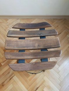 Wine barrel table with two stools.