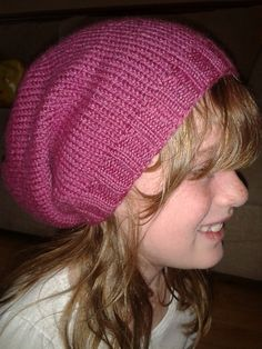 """Slouch hat free knitting pattern (have to try one of these again, can't seem to get the right """"slouch"""" on mine)"""