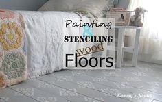 Kammy's Korner: Stenciled Floors {How To}