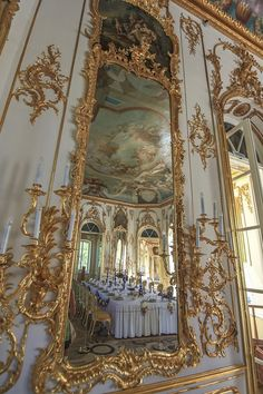 The interior of the Hermitage Pavilion in Tsarskoye Selo, the former imperial country residence near St. Petersburg, Russia