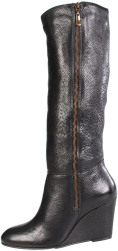 It's hard to find an inexpensive nice looking black boot. These are perfect with jeans or skirts. Pretty comfortable as well.