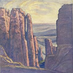 JH Pierneef 1886-1957 African Paintings, Old Paintings, Landscape Art, Landscape Paintings, South Africa Art, Nostalgic Images, South African Artists, Art File, Impressionism