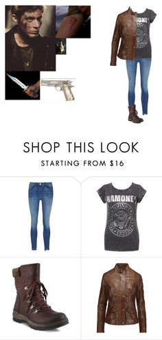 """Fem! Dean Winchester (supernatural)"" by j-j-fandoms ❤ liked on Polyvore featuring Spring Step, Belstaff, supernatural, fandoms, DeanWinchester, GenderSwap and female"