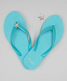Blue Flip-Flop  Starfish Charm Set by PinMeez #zulily #zulilyfinds