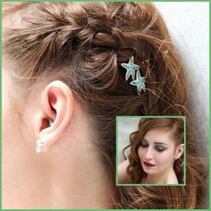 Bright aqua blues and greens inspired by warm tropical waters meld together in these charming starfish bobby pins