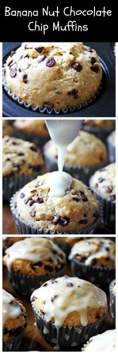Banana Nut Chocolate Chip Muffins ~ a perfect weekend breakfast or brunch recipe! Baked Breakfast Recipes, Healthy Breakfast Muffins, Breakfast Bake, Best Breakfast, Banana Nut Muffins, Chocolate Chip Muffins, Chocolate Chips, Banana Recipes, Muffin Recipes