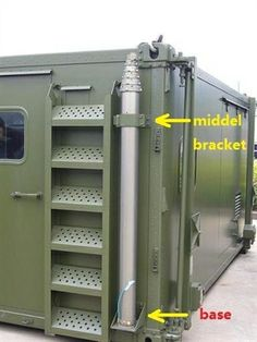 mobile trailer mounted high telescopic antenna mast tower and telescoping mast pole Shipping Container Cafe, Homemade Trailer, Mobile Command Center, Off Grid Survival, Silo House, Container Conversions, Steel Frame Construction, Container Architecture, Mobile Shop