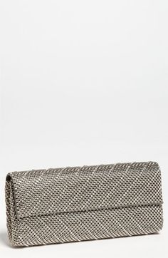 Whiting & Davis 'Crystal Chevron' Flap Clutch available at #Nordstrom