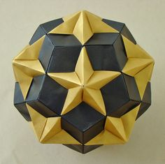 Compound of Dodecahedron and Great Dodecahedron by sin cynic, via Flickr