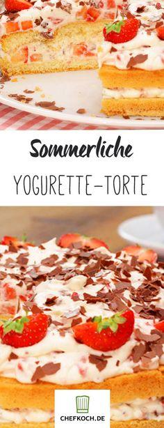 Yogurette-Torte: Schokolade küsst Erdbeere