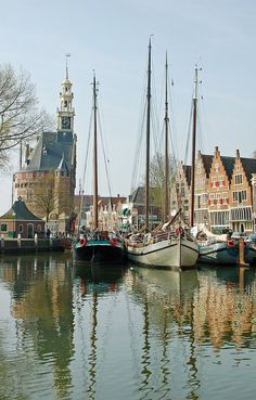 HARBOR AT HOORN  11 x 16 Fine Art Photograph por photosbyclaudia