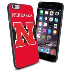iPhone 6 Print Case Cover Nebraska Cornhuskers Logo Protector Rubber #PAZATO