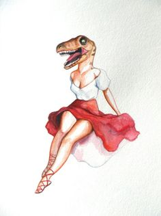 Velociraptor pinup