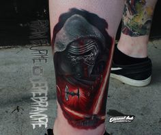 Kylo Ren. Done by Ryan Burke at Necropolis Tattoo in Cornelius OR