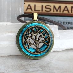 blue tree of life necklace mens jewelry celtic jewelry mens necklace unique gift nature necklace oak tree wiccan necklace mens gift