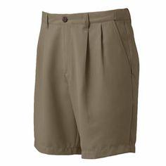 Croft and Barrow Microfiber Pleated Shorts - Men
