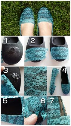 Lace and Flats Revamp :DIY and Craft Tutorials