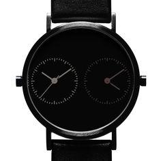 Long Distance 1.0 Black Series (black) watch by Kitmen Keung. Available at Dezeen Watch Store: www.dezeenwatchstore.com