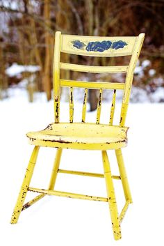 paint one of my old chairs yellow
