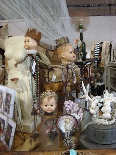 I like doll heads in my cabinet of curiosities
