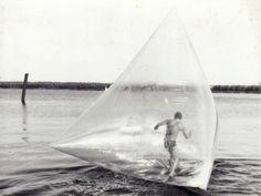 Theo Botschiver & Jeffrrey Show, Water Walk-air Structure Event, 1969