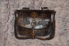 Mittelater Gürteltasche Leather Vikings