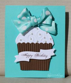"""Tiffany Cupcake"" Card - Scrapbook.com - hmmm I know who to make this for"