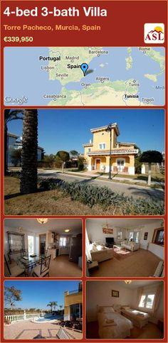 4-bed 3-bath Villa in Torre Pacheco, Murcia, Spain ►€339,950 #PropertyForSaleInSpain
