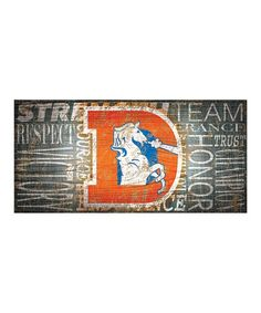 Denver Broncos Word Collage Wall Sign by Fan Creations Word Collage, Denver Broncos Football, Wall Signs, Ear, Words, Products, Wall Plaques, Horse, Gadget
